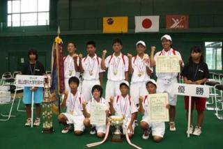 09全国中学男子団体優勝