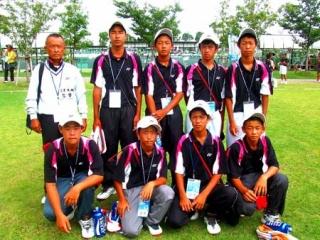 09全国中男子団体準優勝
