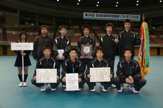 第34回全日本高等学校選抜ソフトテニス大会優勝者(男子)