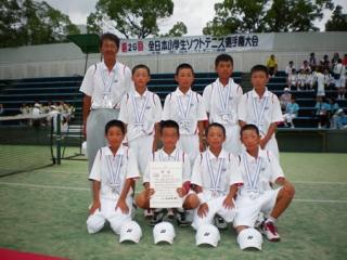 第26回全日本小学生男子団体準優勝