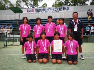 第26回全日本小学生女子団体準優勝