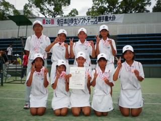 第26回全日本小学生女子団体3位-1